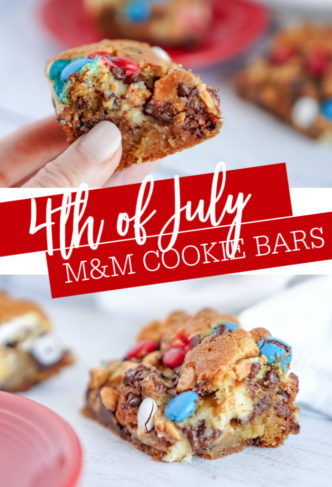 4th of July M&M Cookie Bars