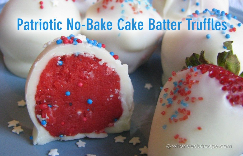 Patriotic No Bake Truffles