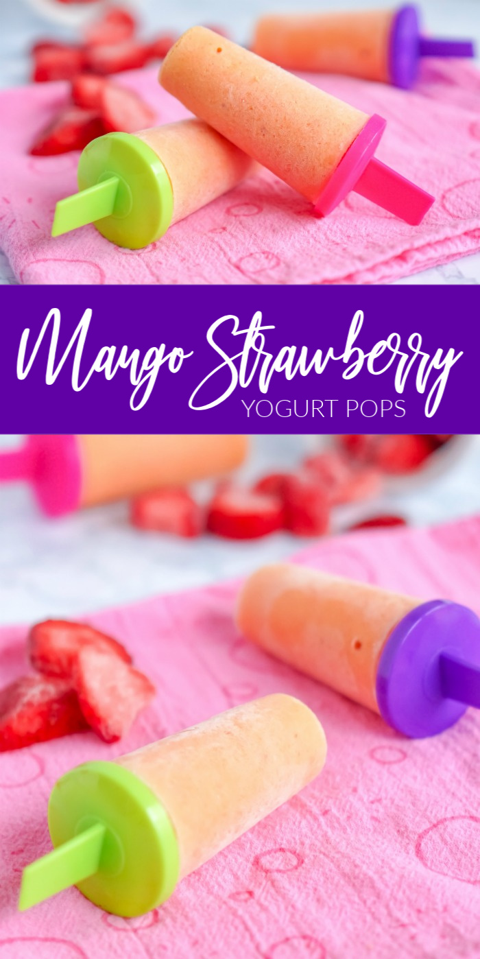 Mango Strawberry Yogurt Pops