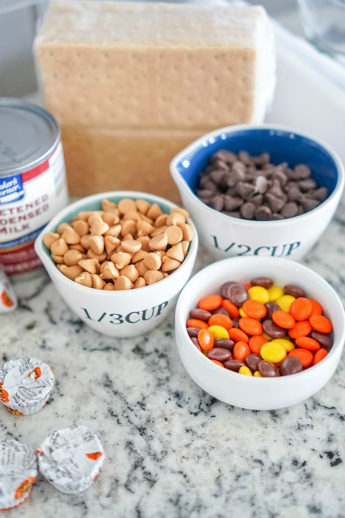 Peanut Butter Cups Magic Bars Ingredients