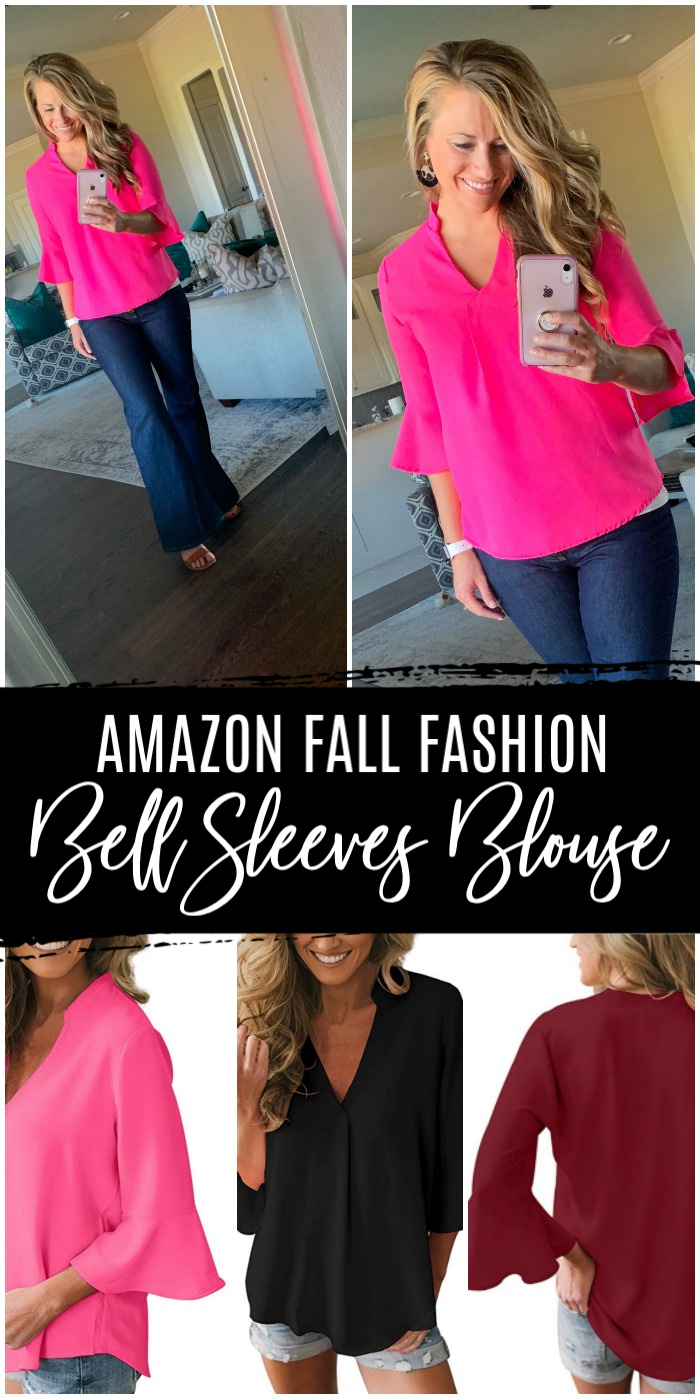 Amazon Fall Fashion Bell Sleeves Blouse
