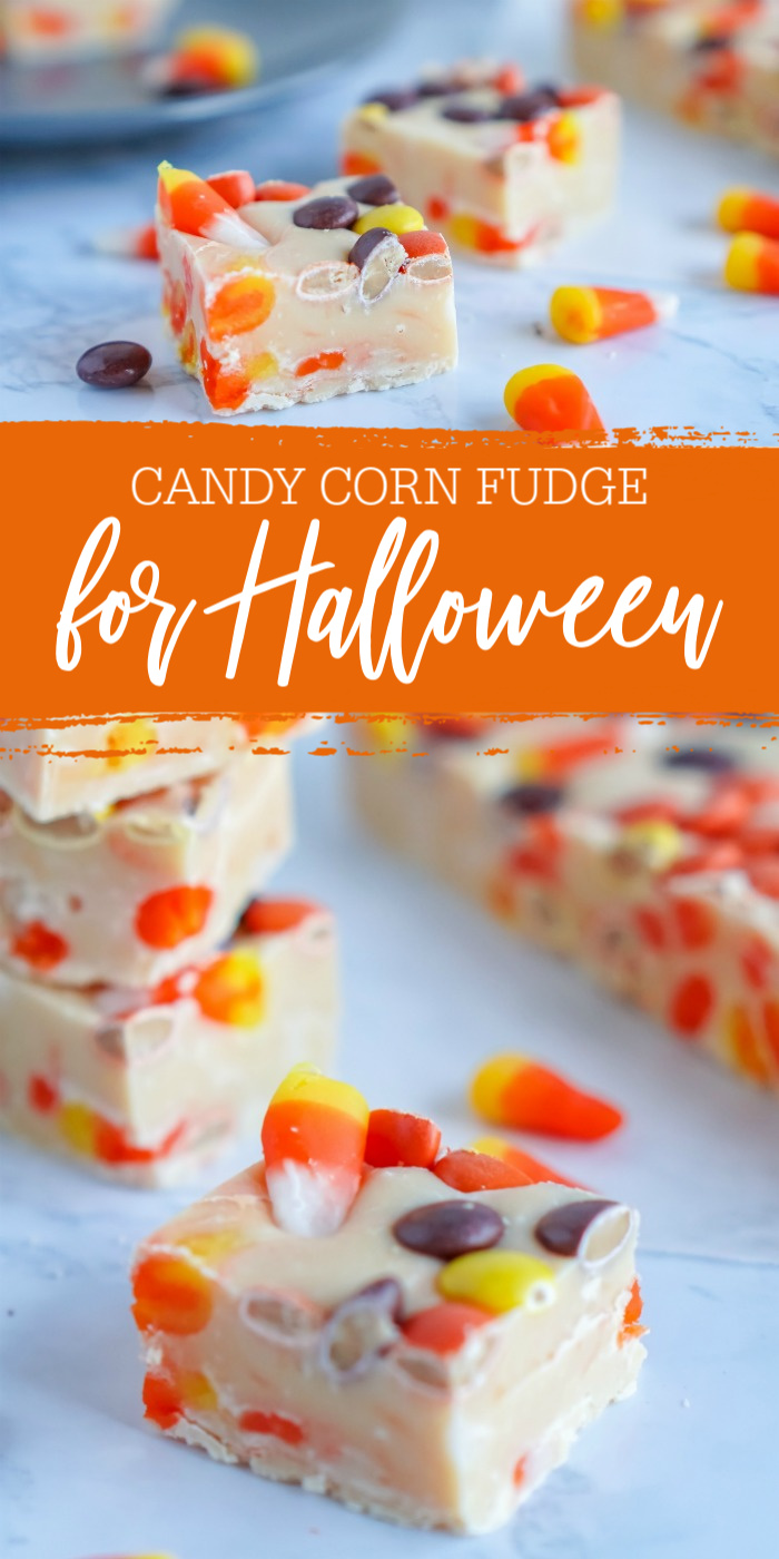 Candy Corn Fudge for Halloween