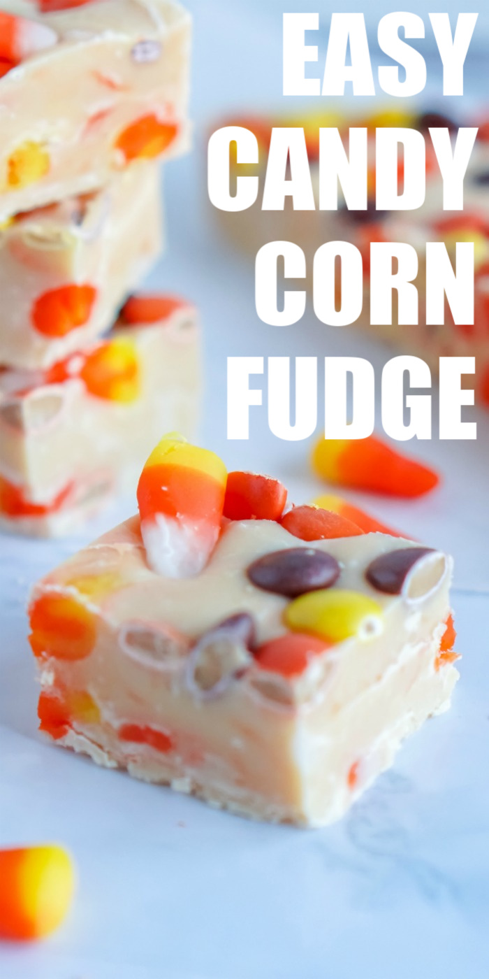 Easy Candy Corn Fudge