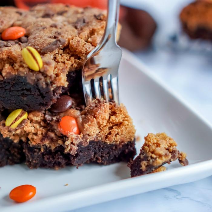 Easy Pumpkin Peanut Butter Brownies Recipe