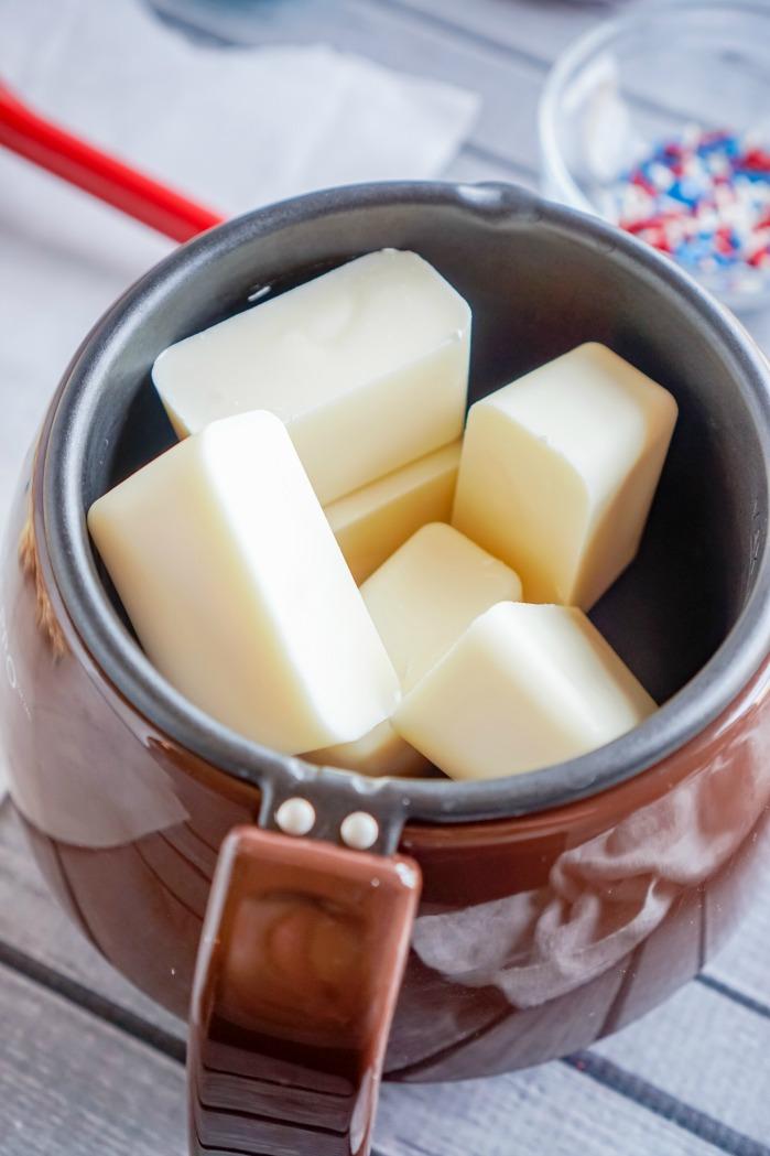 4th of July Star Rice Krispies Treats Recipe Melting Pot Almond bark