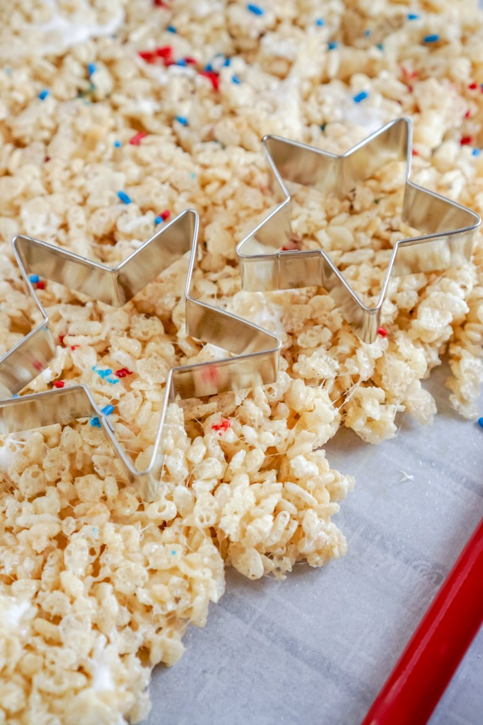 4th of July Star Rice Krispies Treats Recipe Star Cookie Butter