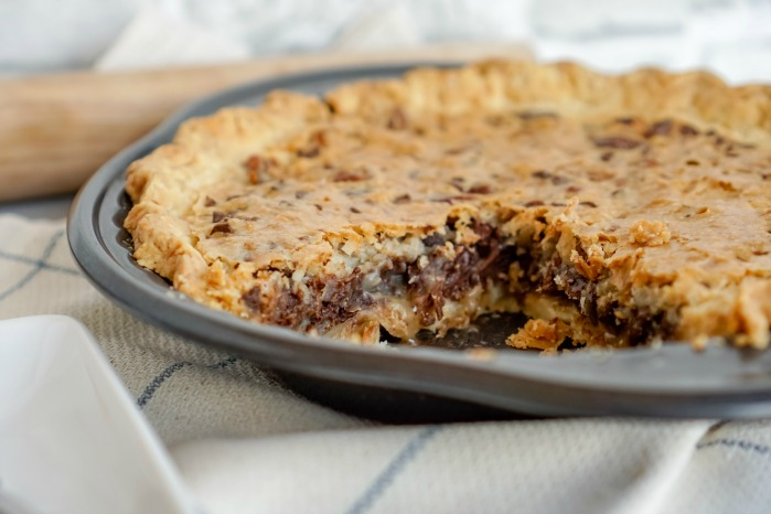 Chocolate Chip Pie Big Slice Cut Out