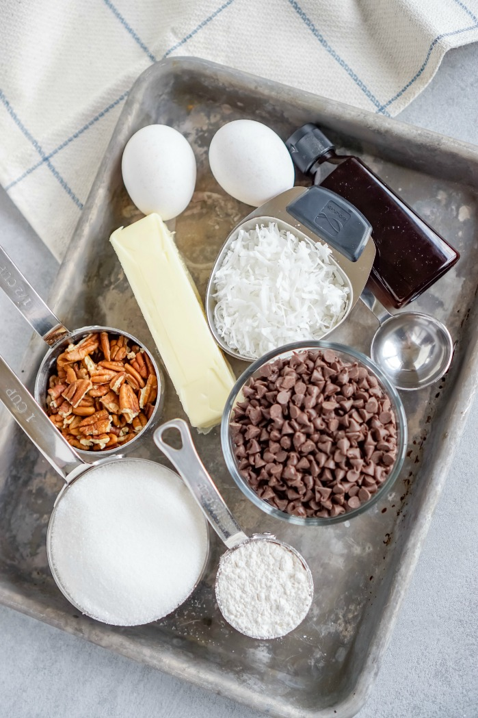 Chocolate Chip Pie Ingredients