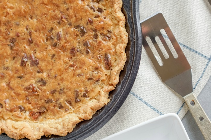 Chocolate Chip Pie in Pan