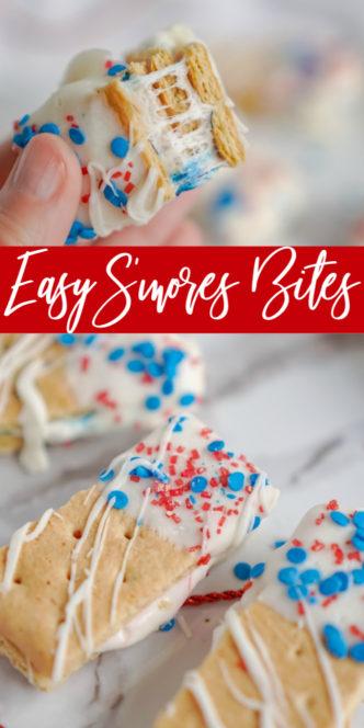 Easy S'mores Bites Recipe on Platter