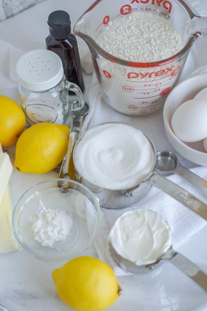 Lemon Pound Cake Ingredients