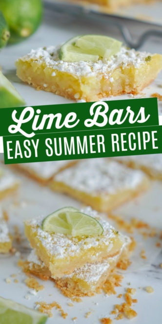 Lime Bars on a Marble Plate