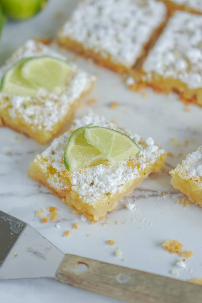 Lime Bars on Platter