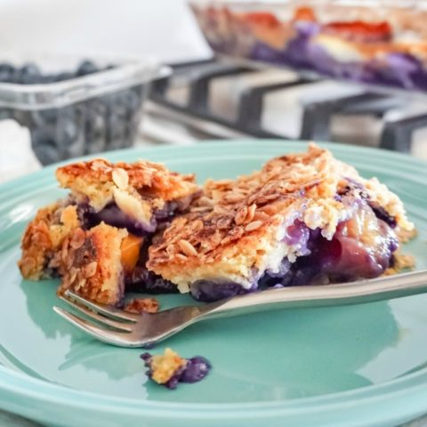 Blueberry Peach Dump Cake