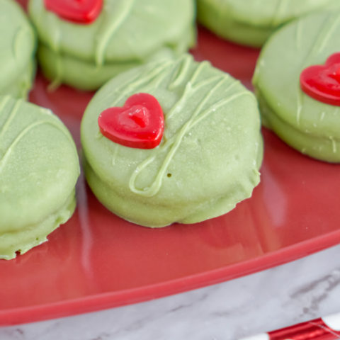No Bake Grinch Cookies!