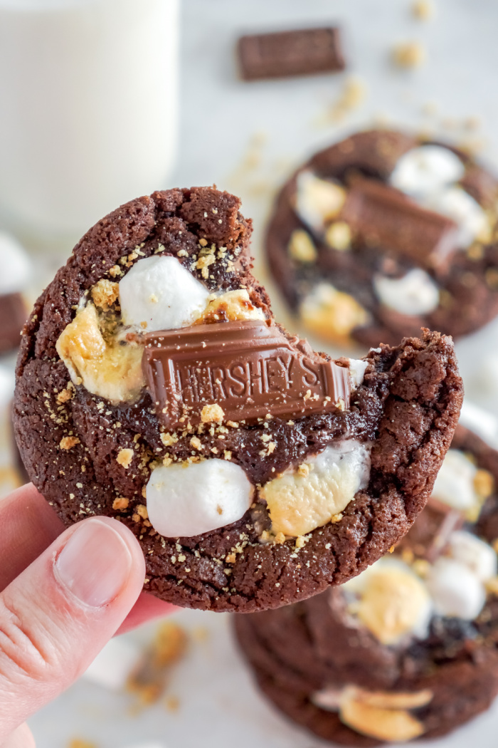 Bite out of S'mores Cookie