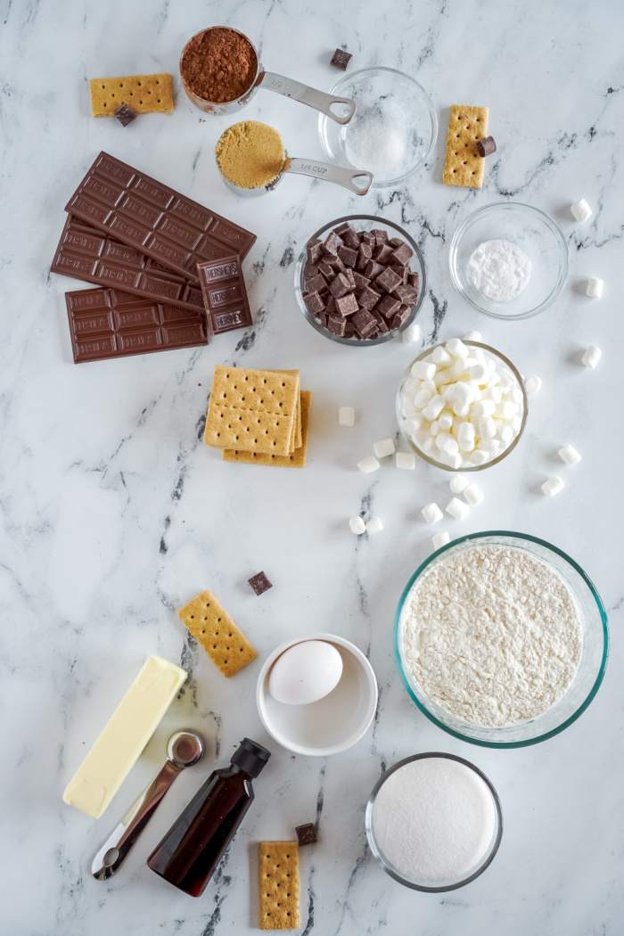 Chocolate S'mores Cookie Ingredients