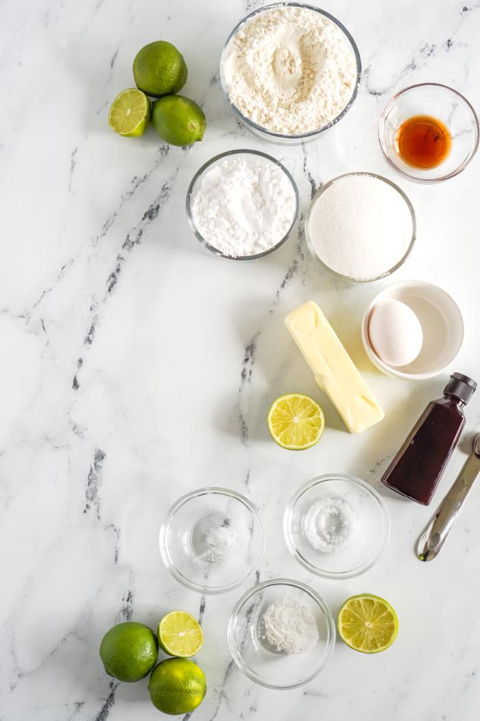 Lime Sugar Cookie Ingredients
