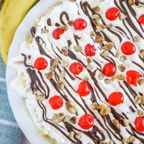 No Bake Banana Split Pie!