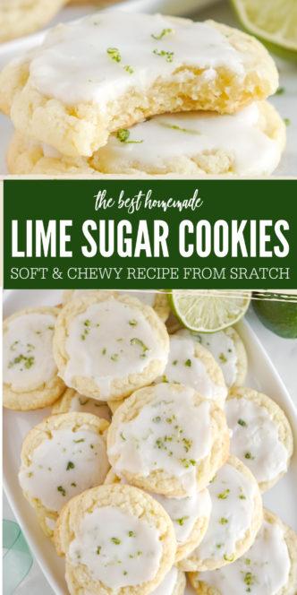 Soft Lime Sugar Cookies