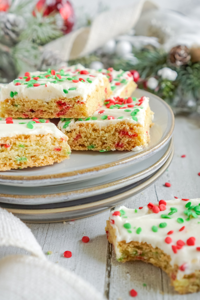 Plate of cookie bars
