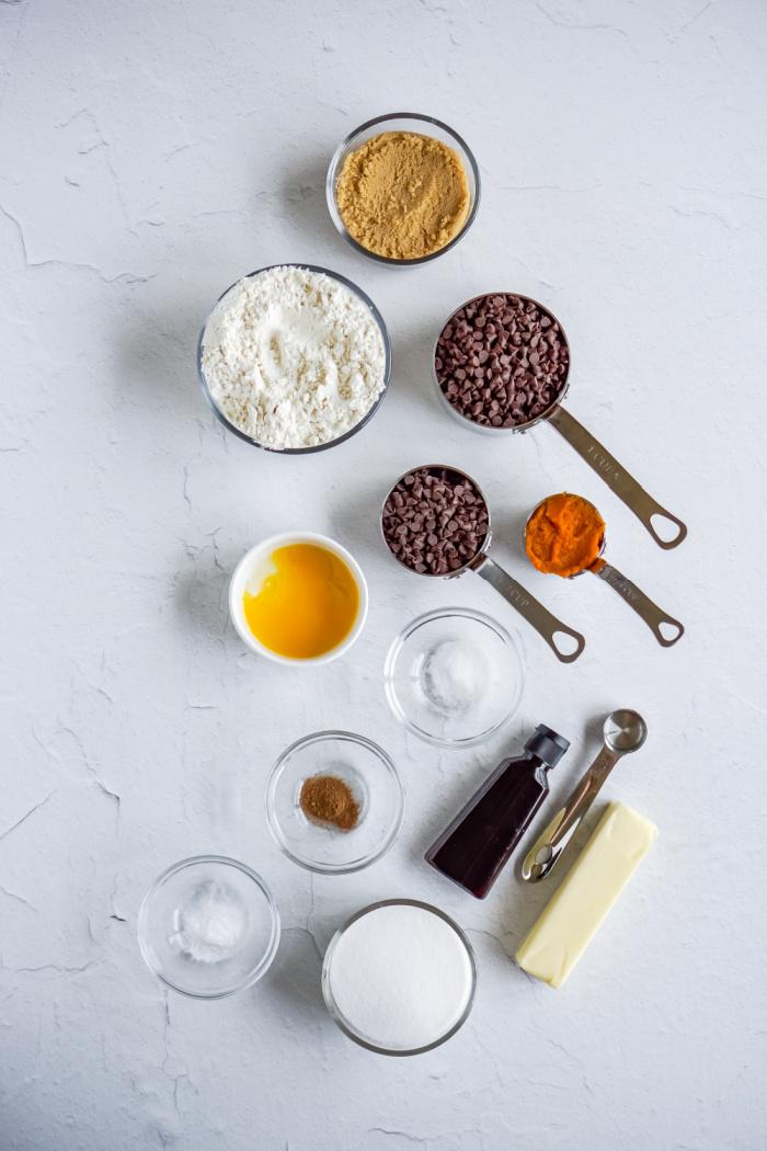 Easy Chocolate Chip Pumpkin Cookies Ingredients
