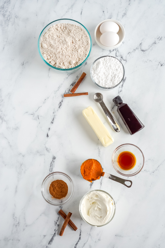 Pumpkin Cake Mix Cookie Ingredients